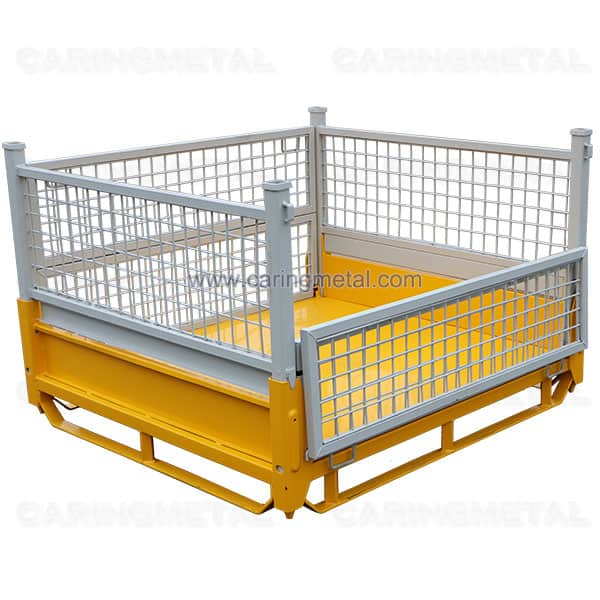 Heavy duty steel pallet cage