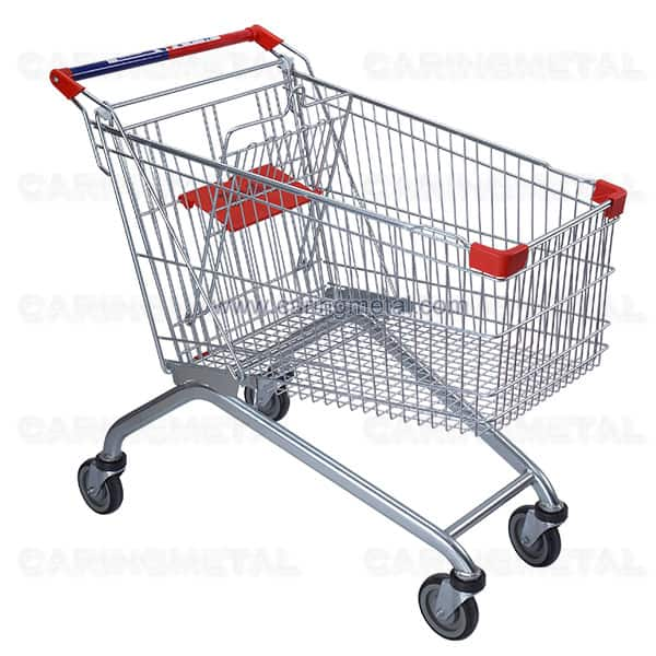 Supermarket shopping trolley 150 liters