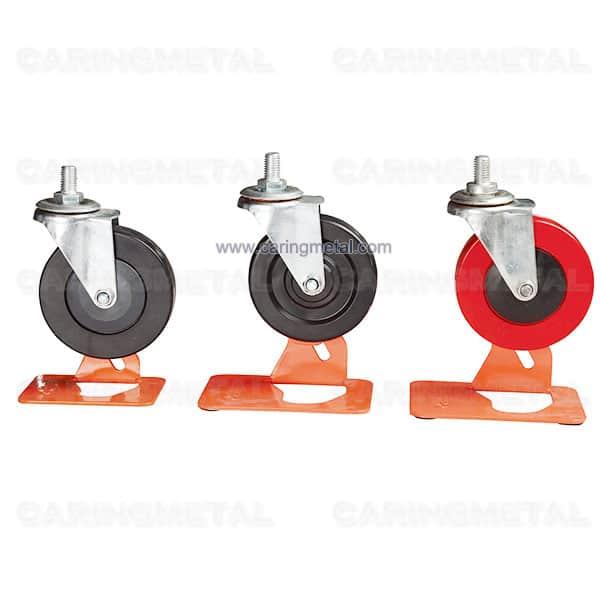 PVC material Shopping trolley stem wheels