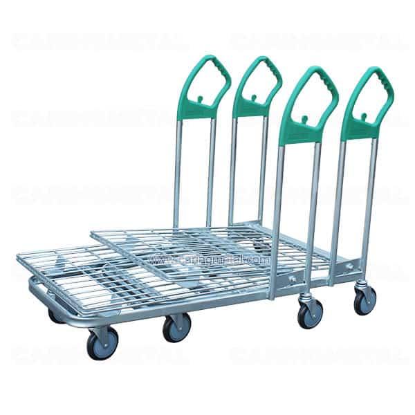 Supermarket Nesting Flat Cart cargo trolley