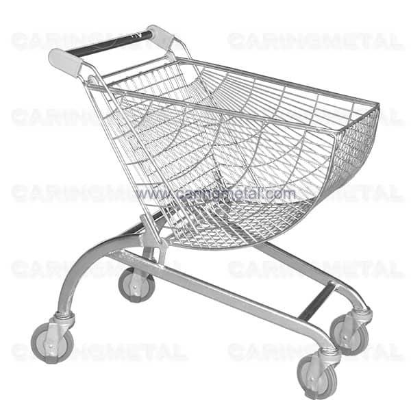 Fan-shaped Shopping Trolley