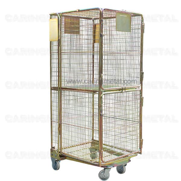 Golden Full Security Double Door A Frame Transport Trolley