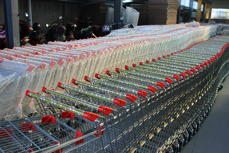 Asian style shopping trolley